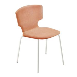 contemporary chair / upholstered / with armrests / stackable