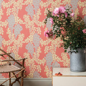 traditional wallpaper / silk / floral / color
