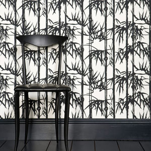 contemporary wallpaper / nature pattern / fabric look / gray