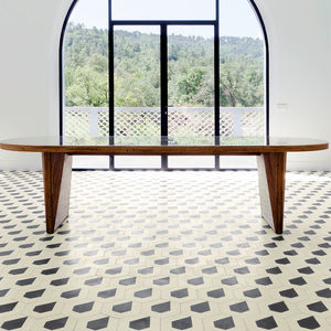 hexagonal encaustic cement tiles / indoor / floor / wall