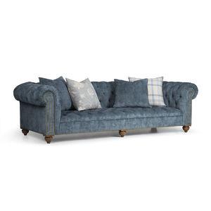 Chesterfield sofa / fabric / 3-seater / cushion