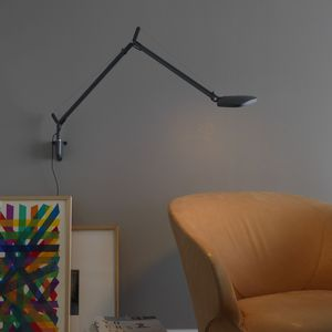 contemporary wall light / metal / polymer / LED