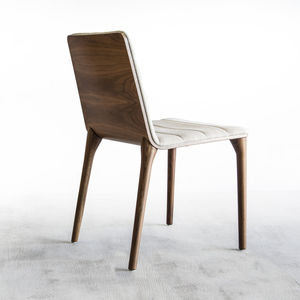 minimalist chair / upholstered / fabric / leather