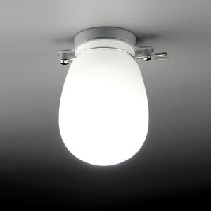 contemporary ceiling light / blown glass / LED / bathroom