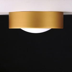 contemporary ceiling light / round / glass / steel