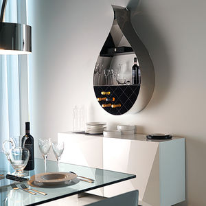 wall-mounted shelf / original design / stainless steel / lacquered steel
