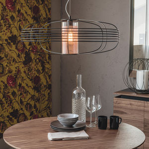 pendant lamp / contemporary / nickel / copper