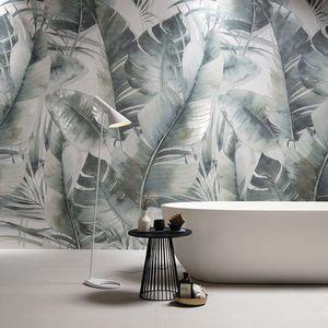 indoor tiles / wall / ceramic / rectangular