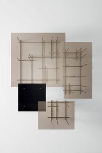 original design coffee table / glass / tempered glass / bronze