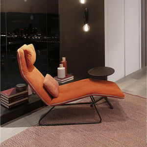 contemporary chaise longue / fabric