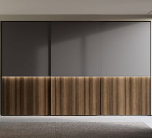 wall-mounted wardrobe / contemporary / lacquered wood / melamine