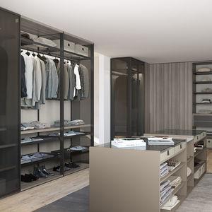 wall-mounted walk-in wardrobe