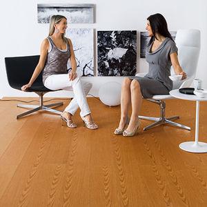 engineered parquet floor / glued / teak / walnut