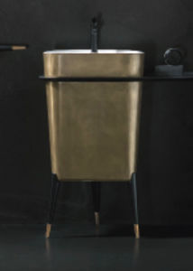 free-standing washbasin / copper / contemporary