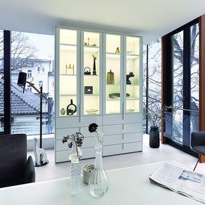 contemporary display case / oak