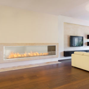 bioethanol fireplace / contemporary / open hearth / double-sided