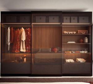 modular wardrobe / contemporary / glass / metal