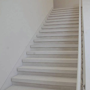 straight staircase / stone steps / with risers / contemporary