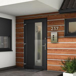 entry door / swing / PVC / security