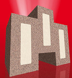 expanded silicate masonry block / insulated / for fire protection