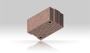 cellular brick / insulating / for masonry