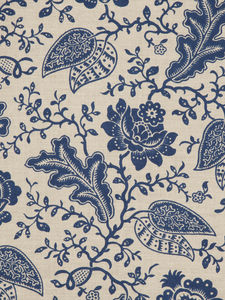 upholstery fabric / floral pattern / linen