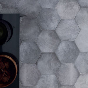 indoor hexagonal tiles