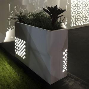 metal planter / rectangular / illuminated / contemporary