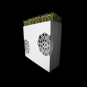 aluminum planter / rectangular / custom / illuminated