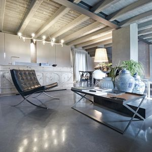 concrete floor covering / tertiary / waxed / concrete look