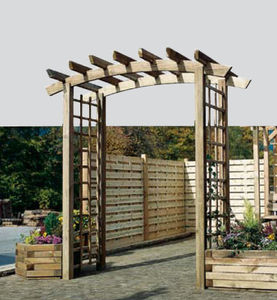 self-supporting pergola / pine / wooden canopy
