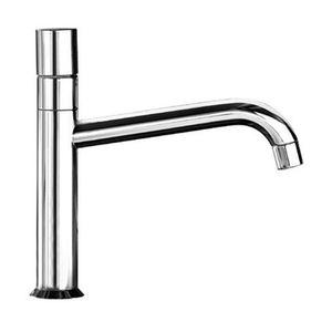 chromed metal mixer tap / mechanical / kitchen / 1-hole