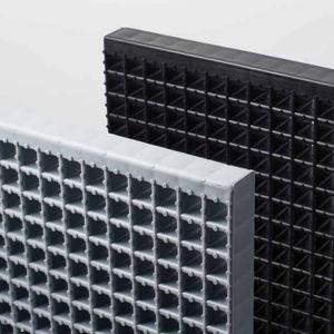 copolymer grating / polypropylene / for walkways / drainage