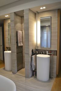 contemporary bathroom / natural stone