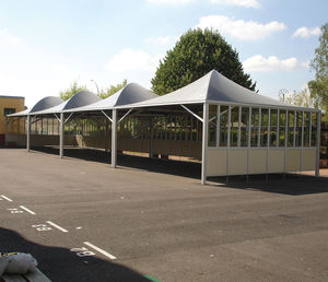 metal frame tensile structure / canopy / for carports / for school