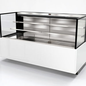 counter warmer display case / on casters / viewable / for shops