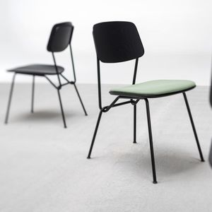 contemporary chair / upholstered / stackable / ergonomic