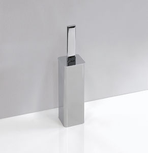 chrome-plated brass toilet brush / floor / by Patrick Norguet