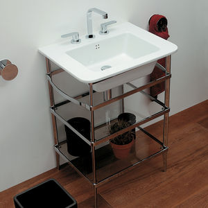 chrome washbasin stand