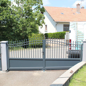 swing gate / wrought iron / with bars / panel