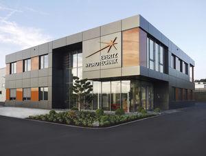 prefab building / modular / steel / glass