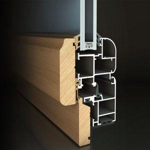 aluminum door profile / wooden