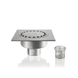 stainless steel floor drain / patio / for swimming pools / vertical