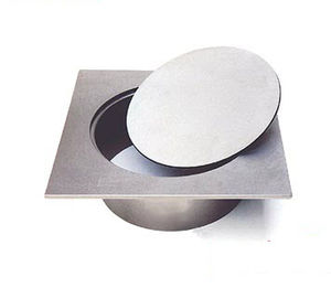 stainless steel manhole cover / round / with built-in lid / custom