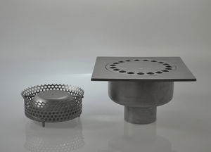 stainless steel floor drain / street / grated / custom