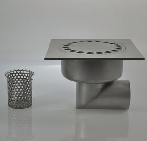 stainless steel floor drain / street / grated / bug trap