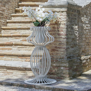 contemporary vase / wrought iron / illuminated