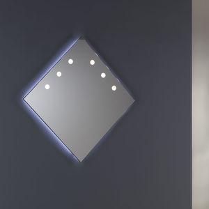 wall-mounted mirror / bedroom / illuminated / contemporary