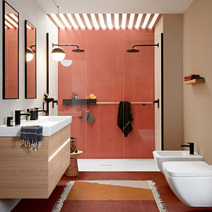 contemporary bathroom / ceramic / composite / wood veneer