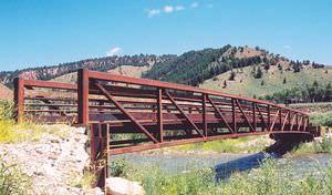 truss pedestrian bridge